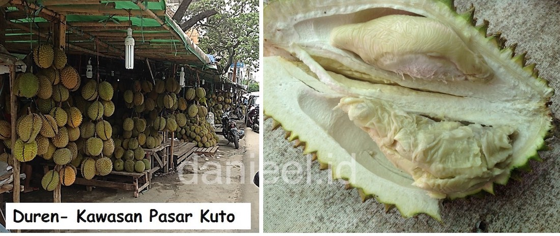 Durian at Pasar Kuto Palembang