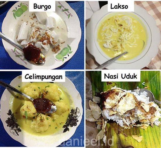 Various breakfast menus at Warkop H Madina Kuto Palembang