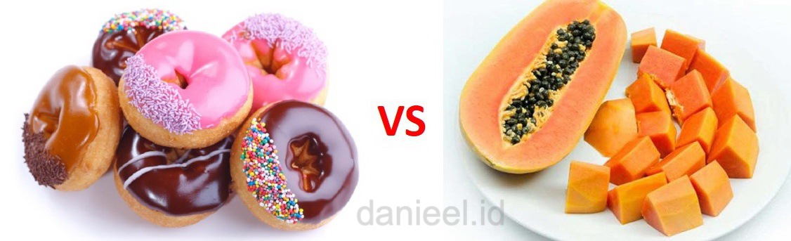 which one do you choose, donut or papaya?