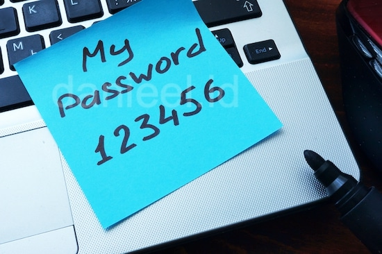 don't use passwords that are too easy to guess